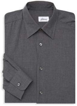 Brioni Herringbone Dress Shirt