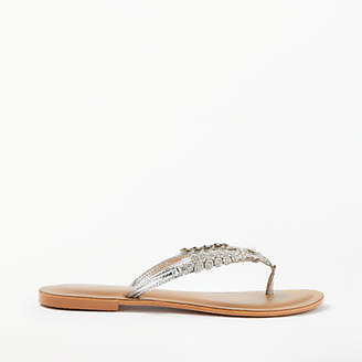 bbc29cabf at John Lewis and Partners · John Lewis   Partners Steph Embellished Toe  Post Sandals