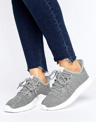Adidas adidas Originals Gray Tubular Shadow Knit Sneakers $100 thestylecure.com