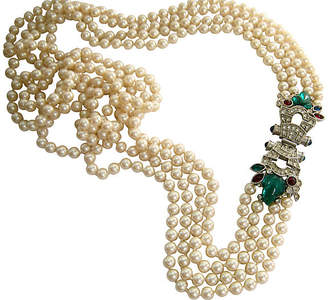 One Kings Lane Vintage Givenchy Runway Bejeweled Pearl Necklace