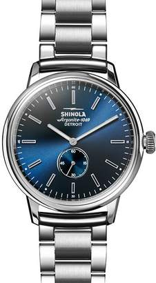 Shinola Bedrock Blue Sunray Dial Dress Watch, 42mm