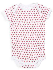 Roller Rabbit Baby Girl's Hearts Bodysuit