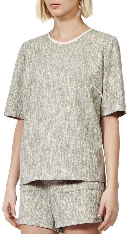 Reiss Thea TWEED T-SHIRT