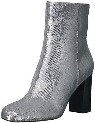 Amazon Brand - The Fix Women's Sutton Round-Toe Sequin Ankle Boot