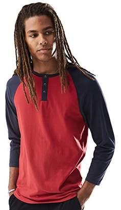 Rebel Canyon Young Men's Long Sleeve Cotton Baseball Henley Top