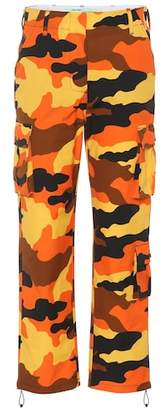 Off-White Camouflage cotton wide-leg pants