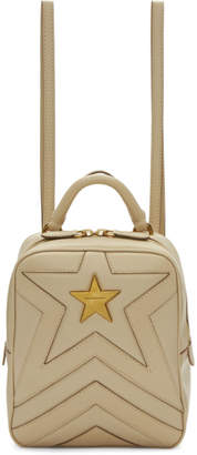 Stella McCartney Beige Small Quilted Star Backpack