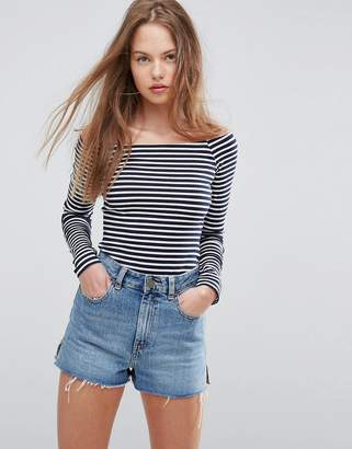 Asos DESIGN Body in Stripe with Long Sleeve