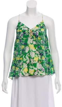 Rebecca Taylor Silk Sleeveless Printed Top
