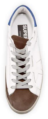 Golden Goose Men's Superstar Tricolor Leather Low-Top Sneakers