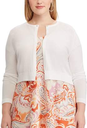 Chaps Plus Size Crop Cardigan