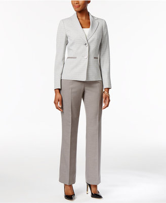 Le Suit Colorblocked Tweed Pantsuit $200 thestylecure.com