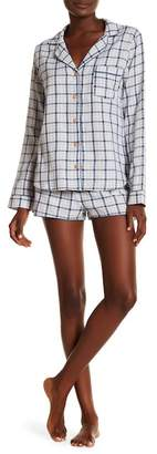 UGG Milo Check Short PJ 2-Piece Set