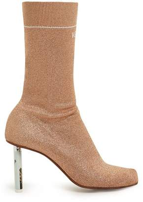 Vetements Lighter Heel Sock Ankle Boots - Womens - Rose Gold