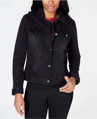 Charter Club Grommet-Sleeve Denim Jacket