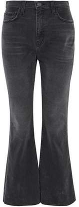 Current/Elliott The High Waist Faded High-Rise Kick-Flare Jeans