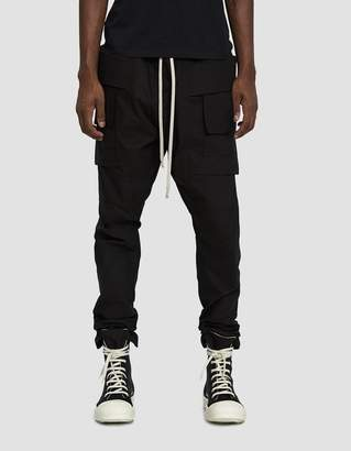 Rick Owens Creatch Cargo Pant in Black