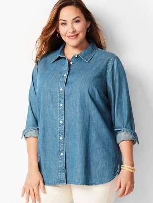 Talbots Classic Denim Cotton Shirt