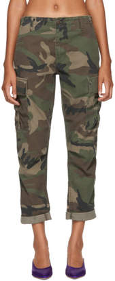RE/DONE Multicolor Camo Cargo Trousers
