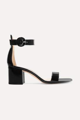 Gianvito Rossi Versilia 60 Patent-leather Sandals - Black