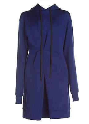 Unravel Project Women's Bustier Pintuck Hoodie Dress