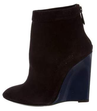 Bottega Veneta Pointed-Toe Wedge Booties