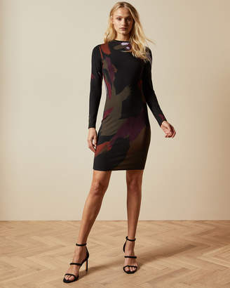 Ted Baker LAURYY Sapphire long sleeved bodycon dress