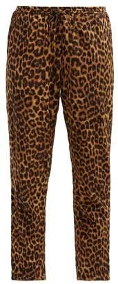 Mes Demoiselles Fatal Leopard Print Cotton Trousers - Womens - Leopard