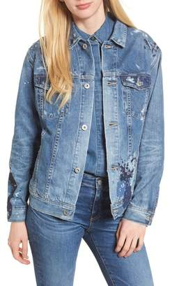 AG Jeans The Nancy Distressed Denim Jacket