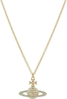 Vivienne Westwood Kika Saturn Orb pendant, Crysal/ rose/pink gold
