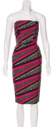 Stella Jean Strapless Mini Dress