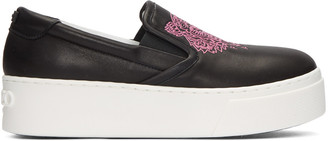 Kenzo Black Leather Tiger Sneakers $345 thestylecure.com