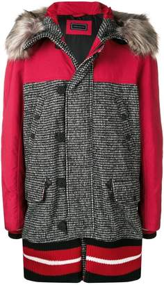 Tommy Hilfiger hooded panelled midi coat