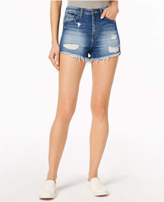 Flying Monkey Ripped Cutoff Denim Shorts