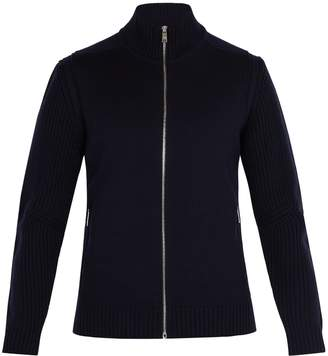Prada High-neck zip-up wool sweater
