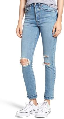 Levi's 501(R) Ripped Skinny Jeans