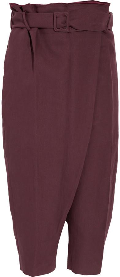 M Missoni Cropped harem cotton-blend twill pants
