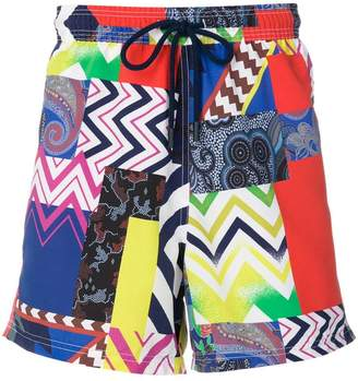 Etro mixed print swim shorts