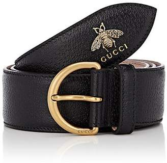 Gucci Men's Bee Leather Belt - Black