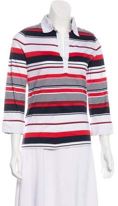 Aquascutum London Striped Long Sleeve Top