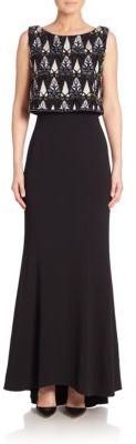 Laundry by Shelli Segal PLATINUM Beaded Sleeveless Gown $895 thestylecure.com