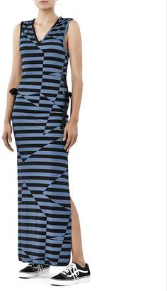Nicole Miller Illusion Stripe Maxi Dress