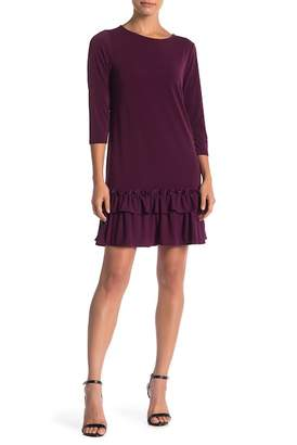 ECI Long Sleeve Ruffle Hem Dress
