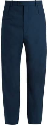 Balenciaga High-rise wool-blend trousers