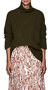 Barneys New York Women's Cashmere Oversized Sweater - Olive
