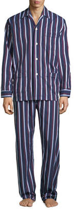 Derek Rose Men's Royal 210 Striped Classic Pajama Set