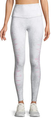 Onzie High-Rise Camo-Print Cropped Performance Leggings