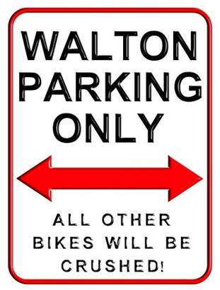 Walton Sinluen Parking Only Aluminum Metal Signs Funny Decorative Outdoors Motorcycle Parking Wall Sign for Home 8 x2 inch