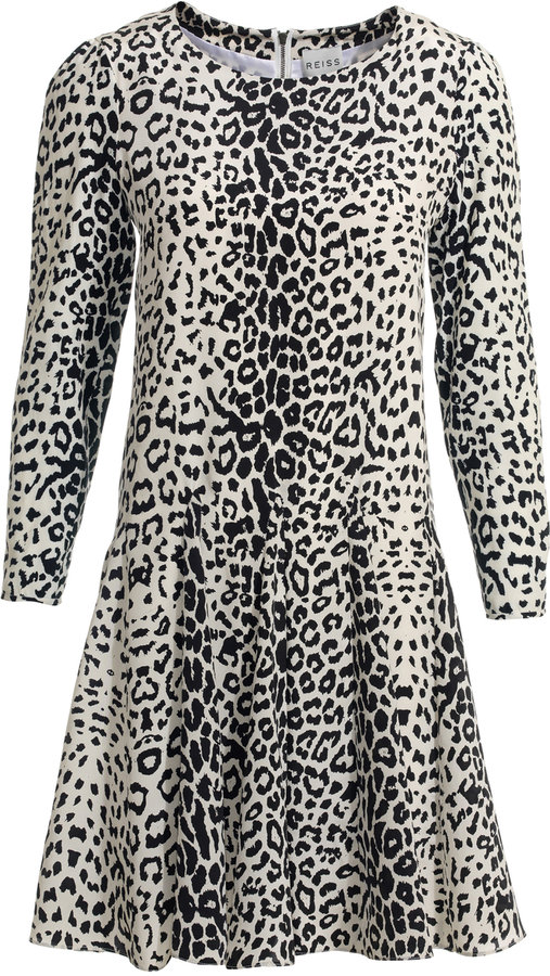 Dita FLARED ANIMAL PRINT DRESS