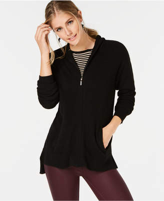 Charter Club Cashmere Hooded Zip-Front Cardigan, Regular and Petite, Created for Macy's